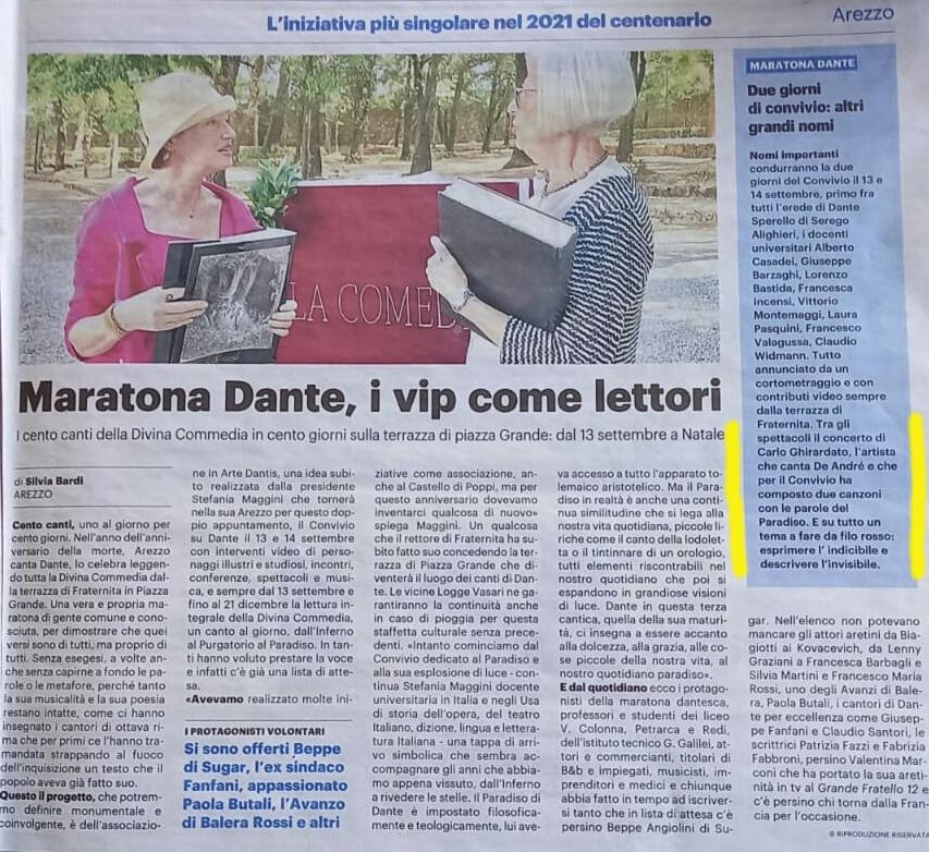 Carlo Ghirardato alla Maratona Dante