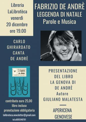 Carlo Ghirardato a Roma presso la Libreria LaLibrotèca  LEGGENDA DI NATALE, FABRIZIO DE ANDRÉ,