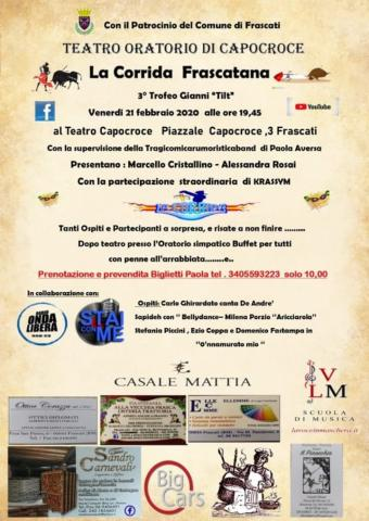 Venerdì 21 febbraio 2020 a Frascati (RM), Carlo Ghirardato canta Fabrizio De André
