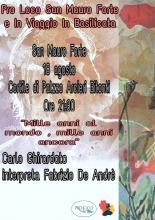 Domenica 18 agosto ore 21,30 - San Mauro Forte (MT) - Carlo Ghirardato interpreta Fabrizio De André