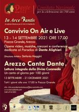 13 e 14 settembre 2021, Carlo Ghirardato partecipa ad AREZZO CANTA DANTE
