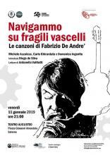 "Venerdì 11 gennaio 2019,  Salerno: ""Navigammo su fragili vascelli"""