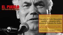 Roma, mercoledì 11marzo 2020 Concerto di Carlo Ghirardato presso il Ristorantino Messicano EL PUEBLO